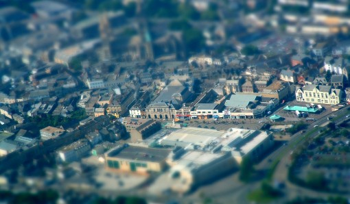 Truro, Cornwall, from above